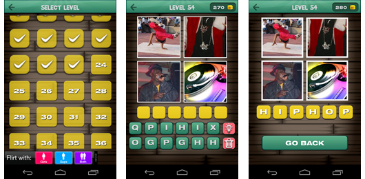 Capturas app 4 pics 1 word