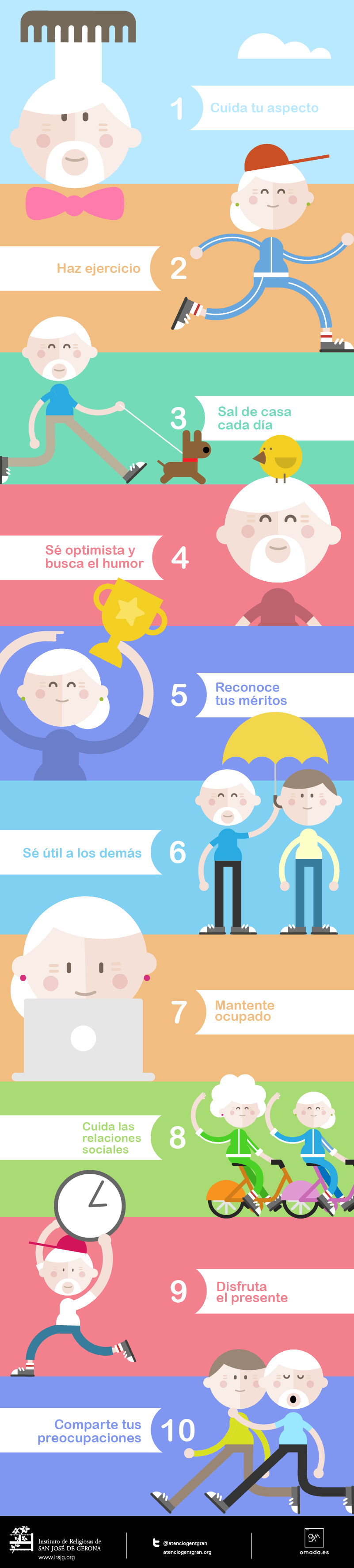 10 consejos para ser feliz en la tercera edad